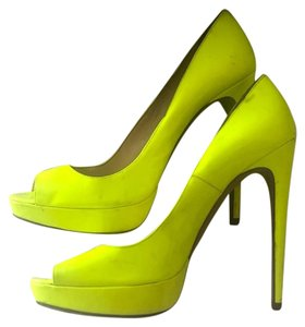 Prada Neon Yellow Pumps