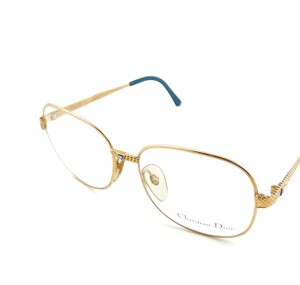c7d0a44a04 Dior New Vintage Christian Dior 2424 Gold Eyeglasses Sunglasses Frames 58mm