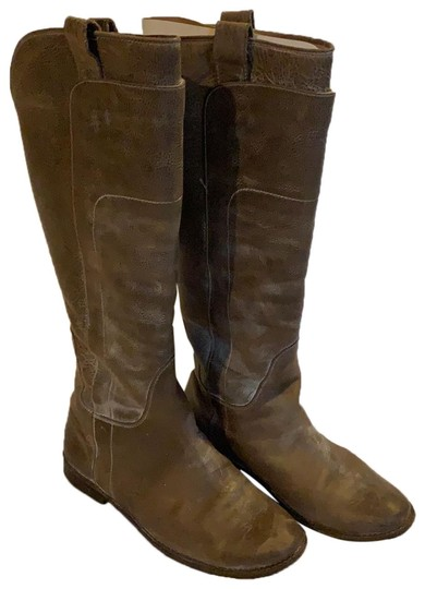 Frye Grey Paige Tall Riding Boots/Booties Size US 7.5 ...