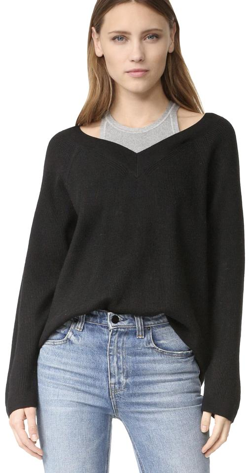 72f381352 T by Alexander Wang With Inner Tank Black Sweater - Tradesy