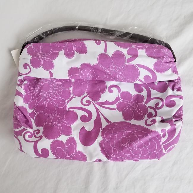 Item - Floral Pink and White Coated Canvas Hobo Bag