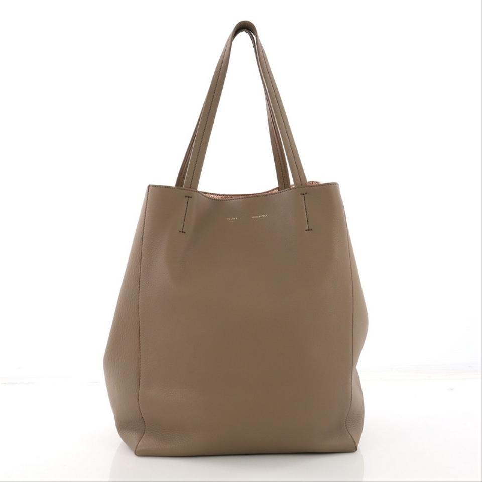 4576f617b1d Céline Cabas Phantom Cabas Large Beige Leather Tote - Tradesy