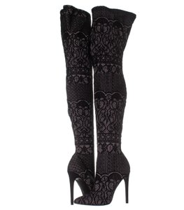 a66f4c23507 Steve Madden Black Flapper Layered Suede Fringe Boots Booties Size ...
