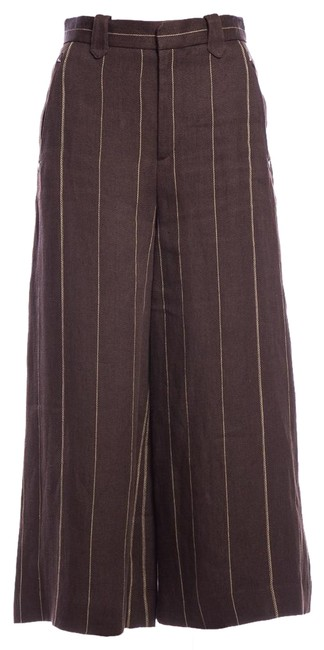 Ralph Lauren Brown Striped Pants Size 2 (XS, 26) Ralph Lauren Brown Striped Pants Size 2 (XS, 26) Image 1