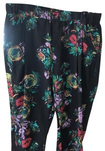 A.B.S. by Allen Schwartz Relaxed Pants black/floral