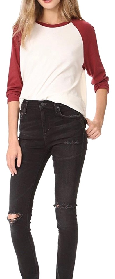 f2c8a4bc011 Citizens of Humanity Distressed Darkness (Black) Rocket High Rise Skinny  Jeans