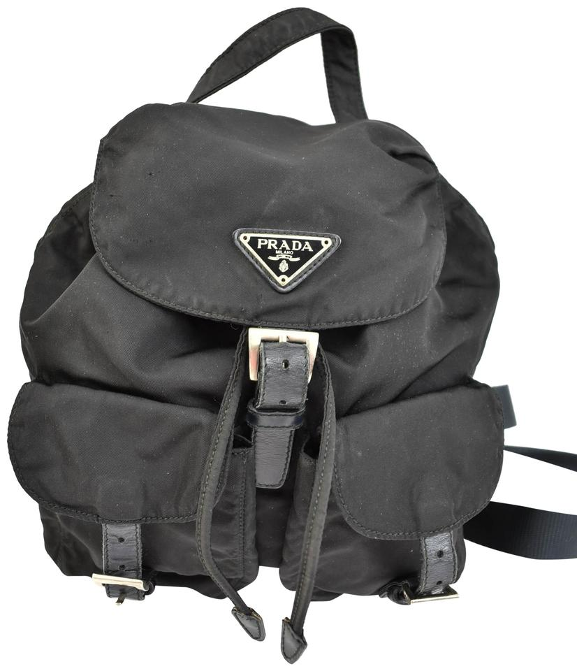 f41378d9e2aa Prada Black Vela Nylon Leather & Logo (Op) Backpack - Tradesy