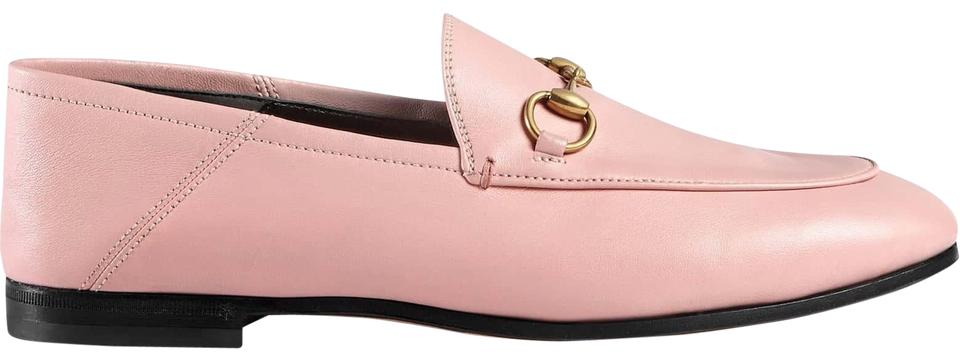 2ea70f03aee Gucci Pink Brixton Perfect Leather Convertible Foldover Loafer Mule ...