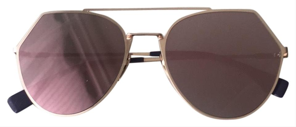 df038ee5987 Fendi Black Purple Gold Eyeline Sunglasses - Tradesy