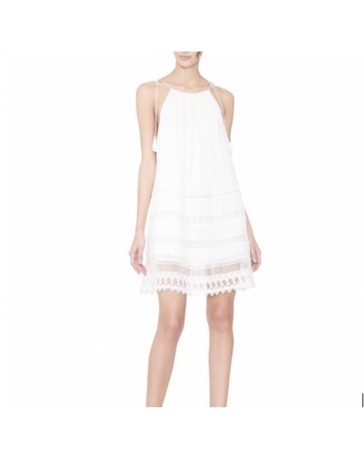 63fc1ad0ca0 Alice + Olivia short dress white Sundress Summer Embroidered on Tradesy ...
