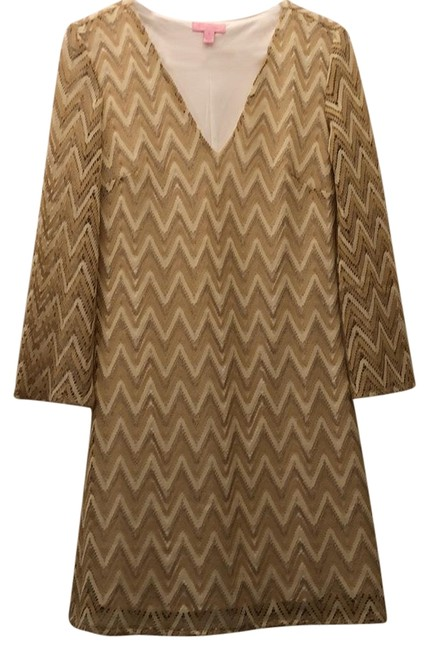 Item - Gold Unknown Mid-length Night Out Dress Size 6 (S)