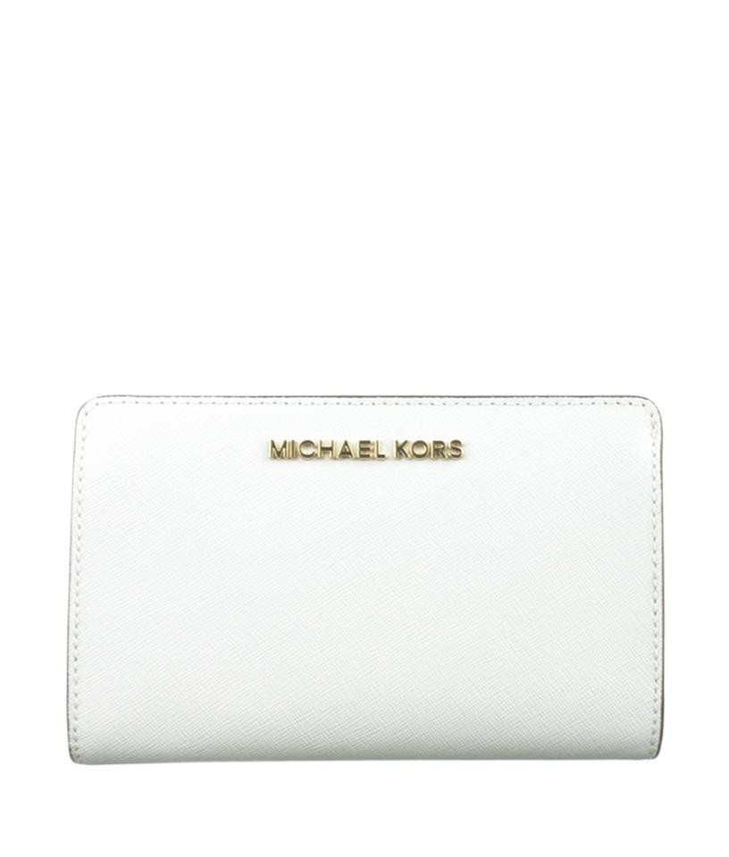 563eb6e02255 Michael Kors Michael Kors Jet Set Travel Slim Bi-fold Leather Snap Wallet  (167935 ...