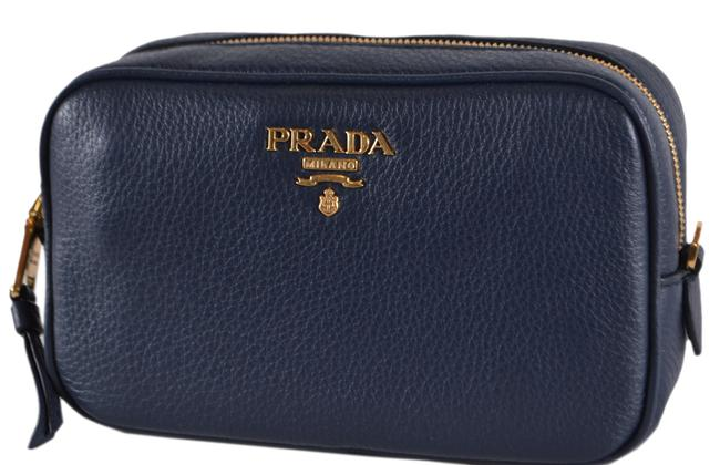 Item - Blue New 1nd007 Baltico Textured Grain Leather Cosmetic Bag