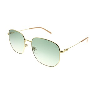 1f031704b33 Gucci NEW Gucci GG0396S Tinted Gold Bee Logo Metal Sunglasses
