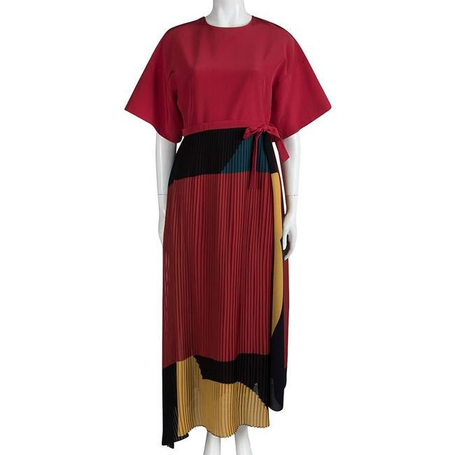 Multicolor Maxi Dress by ISSA London Color-blocking Image 2