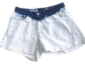Anthropologie Ombre Denim Dip Dye Cut Off Shorts Blue
