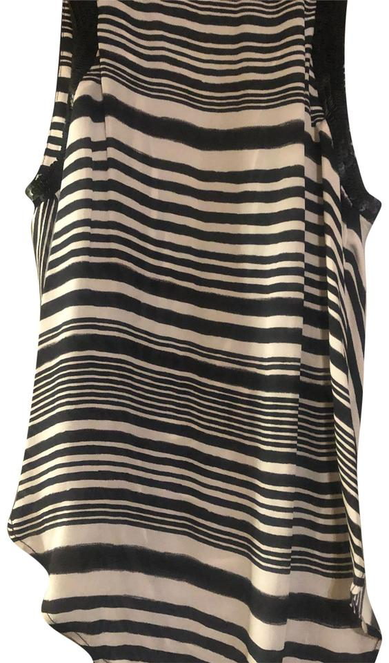 3caf210b601a3c Haute Hippie Black and White Don't Know Blouse Size 0 (XS) - Tradesy