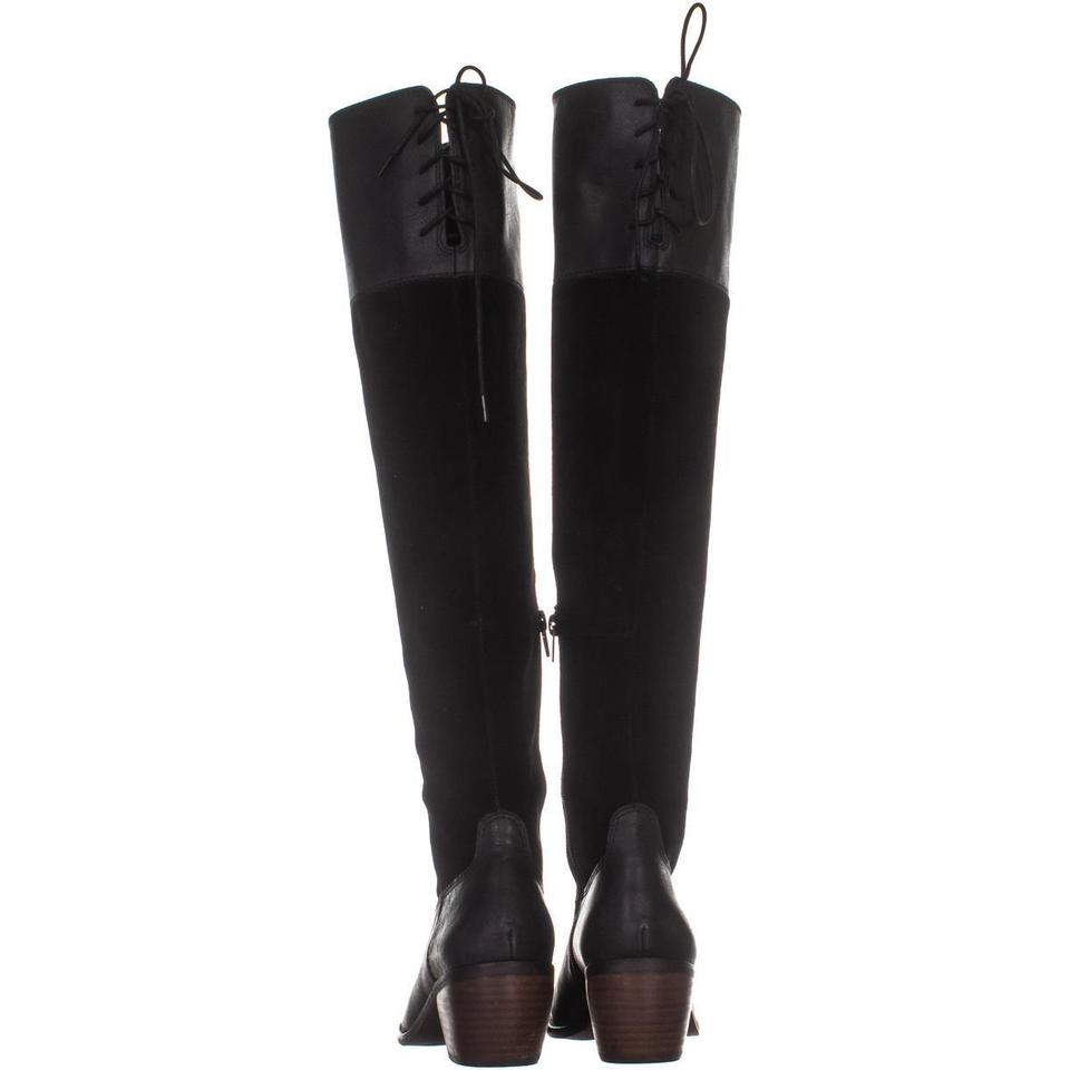 6fbce822343 Lucky Brand Black Komah Over The Knee Rear Lace 984 Boots Booties ...