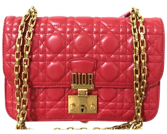 Item - Flap Red Lambskin Leather Shoulder Bag
