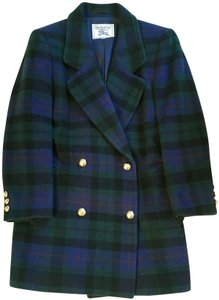 Burberry Black Watch Tartan Plaid Meghan Markle Pea Coat