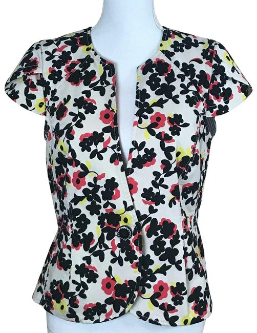 Item - Multicolor Elevenses Flower Short Sleeve Jacket Size 2 (XS)