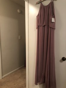 David's Bridal Quartz Polyester F19773 Formal Bridesmaid/Mob Dress Size 14 (L)