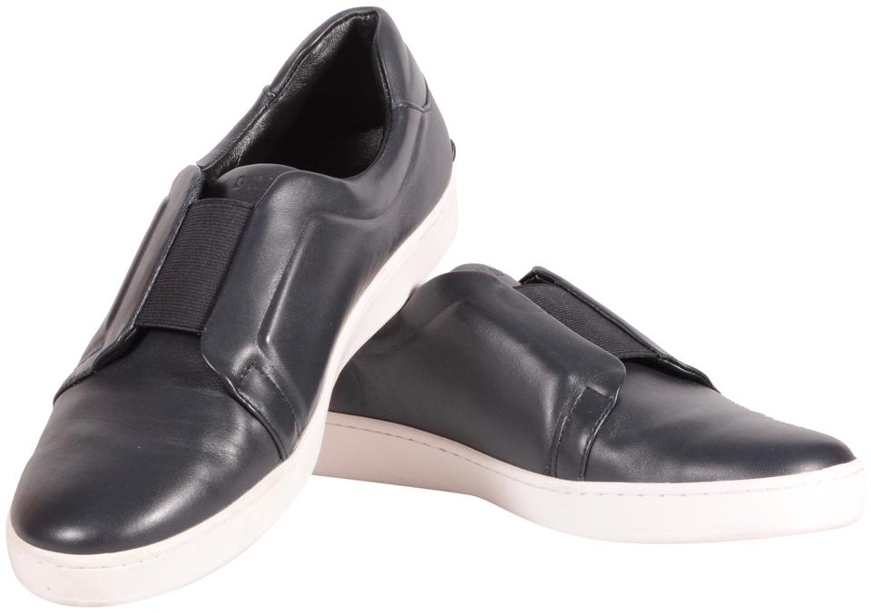 048d33c4171b DKNY Black Bobby Classic Court' Leather Trainers Sneakers Size US ...