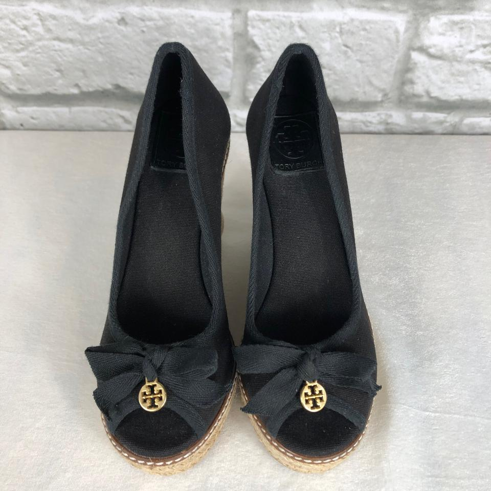 edb455c45bd3 Tory Burch Black Jackie Wedges Size US 7.5 Regular (M