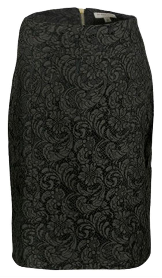 d456ef0762 Burberry Green London Olive Floral Lace Pencil Skirt Size 6 (S, 28 ...
