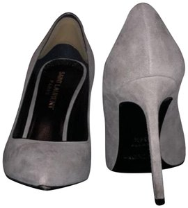 Saint Laurent Grey Suede Pumps