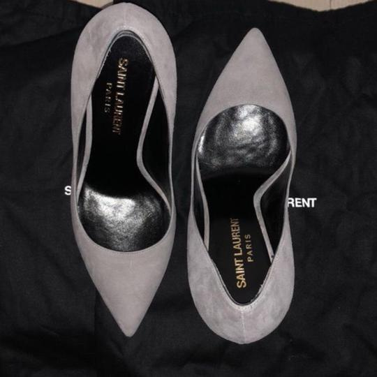 Saint Laurent Grey Suede Pumps Image 1