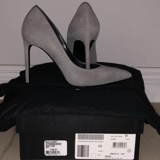 Saint Laurent Grey Suede Pumps Image 2