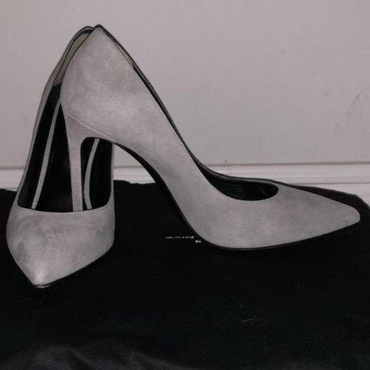 Saint Laurent Grey Suede Pumps Image 3