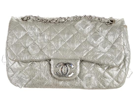 Chanel Classic Flap Cc Logo Ice Cube On The Rocks Shoulder Bag Image 1