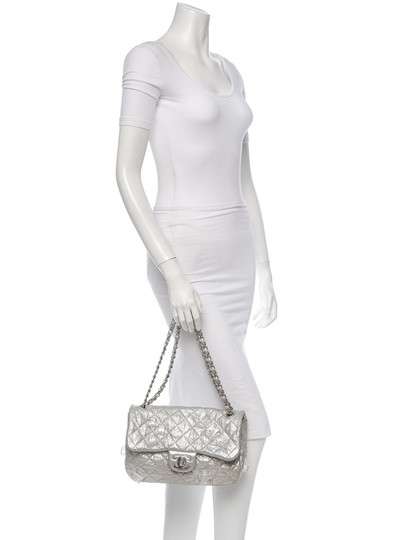 Chanel Classic Flap Cc Logo Ice Cube On The Rocks Shoulder Bag Image 10