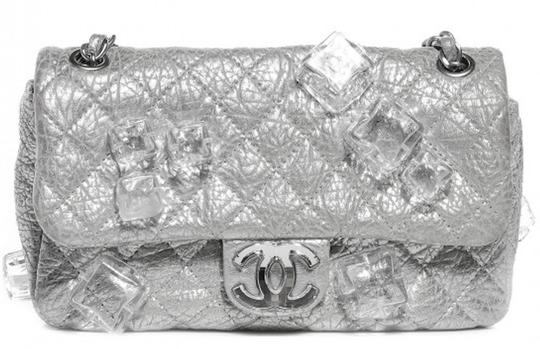 Chanel Classic Flap Cc Logo Ice Cube On The Rocks Shoulder Bag Image 11