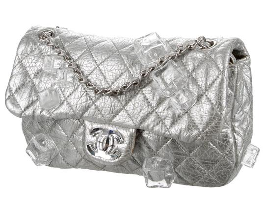 Chanel Classic Flap Cc Logo Ice Cube On The Rocks Shoulder Bag Image 2