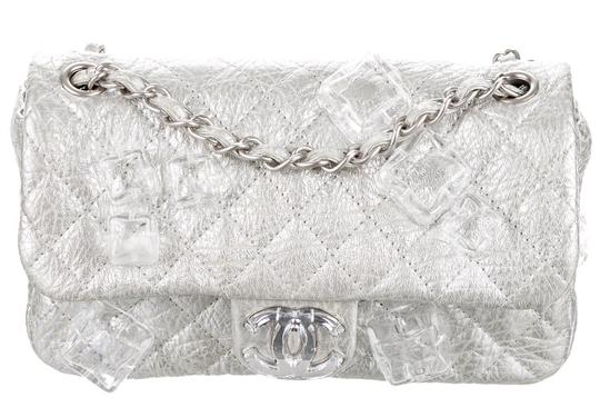 Chanel Classic Flap Cc Logo Ice Cube On The Rocks Shoulder Bag Image 3
