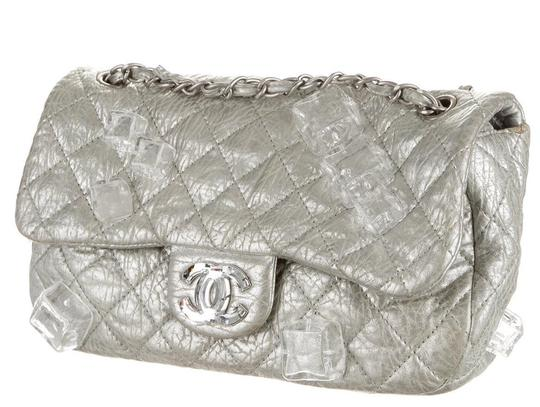 Chanel Classic Flap Cc Logo Ice Cube On The Rocks Shoulder Bag Image 4