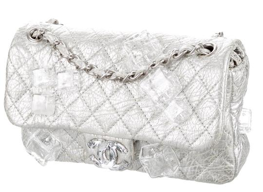 Chanel Classic Flap Cc Logo Ice Cube On The Rocks Shoulder Bag Image 5