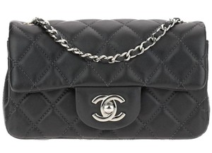 Chanel Classic Flap Mini Lambskin Cc Logo Cross Body Bag