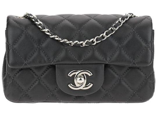Chanel Classic Extra Micro Mini Flap Quilted Cc Logo Dark