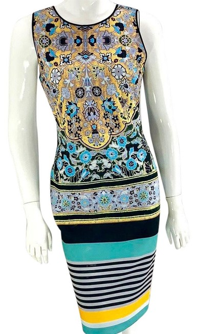 Item - Graphic Print Mid-length Night Out Dress Size 12 (L)