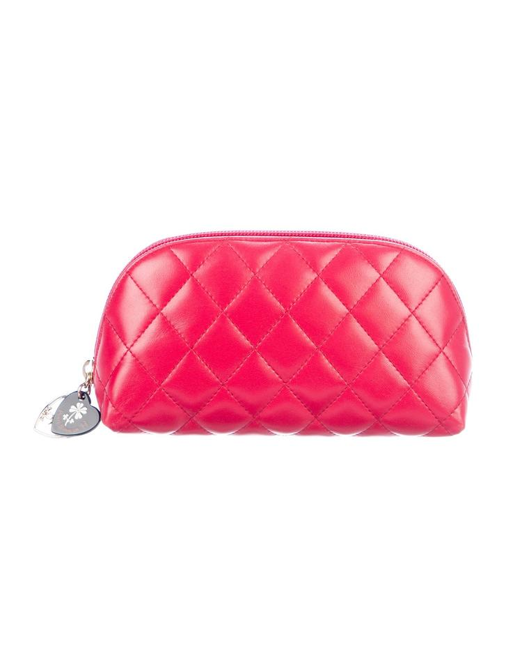 c26f380233c Chanel Red Raspberry Evening Bag Clutch Cc Quilted Mini Classic Cosmetic  Heart Purse Pouch Wallet 68% off retail