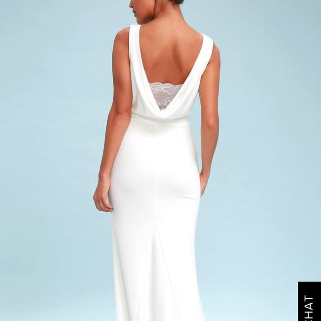 Item - Ivory 95% Polyester 5% Spandex Way To Your Heart White Backless Maxi Casual Wedding Dress Size 0 (XS)