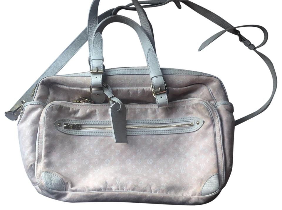 4dc119bf92c1 Louis Vuitton Monogram Canvas In Pink Canvas leather Trim Diaper Bag ...