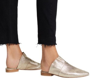 Free People gold Mules