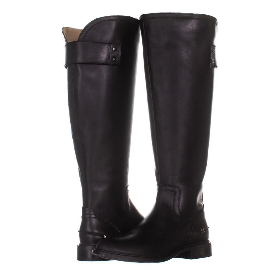 973465a2735 Franco Sarto Black Henrietta Wide Calf Knee High 940 Leather 7  Boots/Booties Size US 7.5 Regular (M, B) 51% off retail