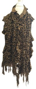 Foreign Exchange Foreign Exchange Print Brown Cheetah Leopard Scarf