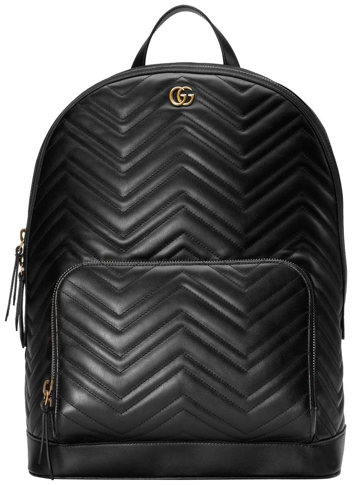 0dfcfec3ed4 Gucci Marmont Men s Gg Matelasse Black Leather Backpack - Tradesy